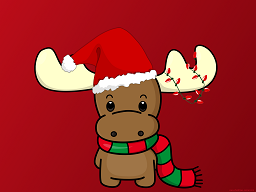 Happy-Chirstmas-Reindeer-with-Hat-Wallpaper-1024x768